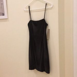 Reformation Cindy Dress, Black Velvet, Size XS